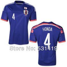 Japan Soccer Jersey 2014 World Cup Kagawa Honda Nagatomo Atsuto Okazaki Soccer Jersey Best Thai Quality Football Soccer Uniform $28.50 - 29.50
