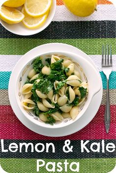lemon and kale pasta