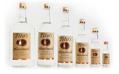 Tito's Handmade Vodka is produced in Austin at Texas' first and oldest legal distillery. It's made in small batches in an old fashioned pot still by Tito Beveridge (actual name), a 40-something Geologist, and distilled six times.