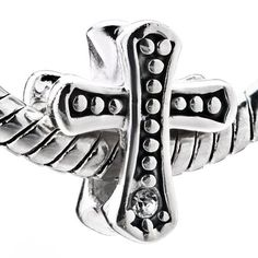 Cross Crystal 925 Sterling Silver Religious Beads Fits Pandora Charms Bracelet $24.49