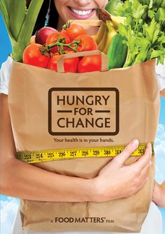 """""""Hungry for Change."""" Documentary about the food we eat, the flaws of our diet paradigms and why our diets don't work, the FALSE marketing of products and their supposed health benefits, and what your body actually needs to be happy and healthy. Another great eye-opening film! Watch for free on Netflix and visit link to watch trailer."""