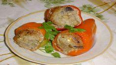 Фаршированный перец с мясным фаршем и шампиньонами. Оригинальный вариант любимого блюда