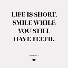 Smile! #quote #fashionchick