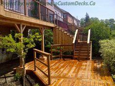 Walkout Basement Deck Plans Custom Landscaping Toronto