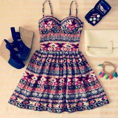 Aztec/tribal style bustier dress! | elfsacks