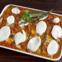 Fresh Mozzarella Aubergine Tomato Casserole