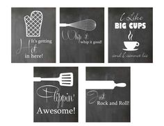 Instant Download Set of 5 Kitchen Chalkboard by JMeccaPhotography