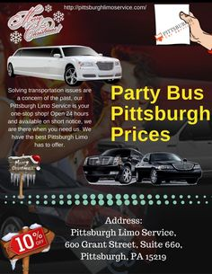 Party Bus Pittsburgh Prices Infographic