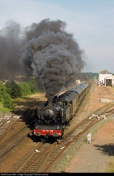 RailPictures.Net Photo: 141TD 740 SNCF Steam 2-8-2 at Jonzac, France by Fabrice Lanoue