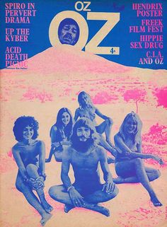 Oz was a popular underground magazine in London during the late 1960's. It was about sex, drugs, rock&roll, fantasy, love, freedom & waking up, and it was one of the most visually exciting publications of its time. Several editions included psychedelic wrap-around or pull-out posters and the cover of Oz #11 included a collection of multi-color stickers. The magazine regularly enraged the British Establishment.