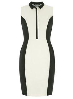 Mono 2in2 Placket Pencil Dress