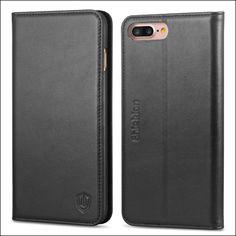 SHIELDON Genuine Leather iPhone 8 Plus Wallet Case