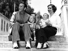 George Burns (born Naftaly Birnbaum), Gracie Allen, & Sandra, and son, Ronnie.