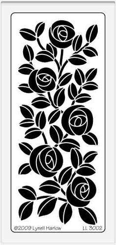 crafting stencils   Dreamweaver Stencils: LL 3002 Rose Bush