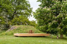 Bunker Pavilion by B-ILD. Photography is by Tim Van de Velde.