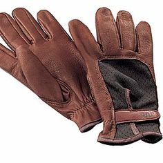 PREMIER SHOOTING GLOVE   Palm and fingers are constructed of the softest North American whitetail deerskin. The mesh back stretches to maintain a tight fit for maximum dexterity. Available in Acorn (shown here) or Camel color.   Men's sizes S-XL.  krsaddleshop.com