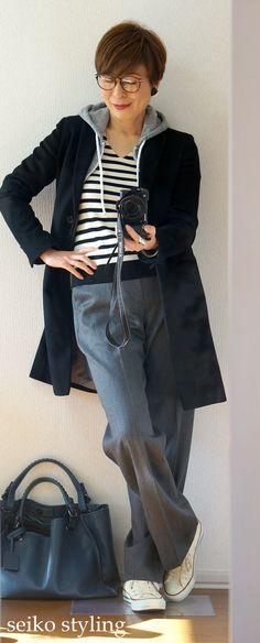 骨格タイプ「ストレート」ワイドパンツをどう取り入れる?   服を変えれば、生き方が輝く!私がはじまるファッションコーデ Fashion Pants, Girl Fashion, Fashion Outfits, Womens Fashion, Casual Chic Style, Casual Street Style, Capsule Wardrobe, Mature Fashion, Japan Fashion