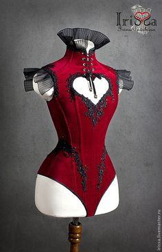 "Corsets are handmade. Corset - body ""Velvet Heart"". Irina IriSSa Pavshin"