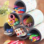 Upcycled Classroom: Craft Supply Storage