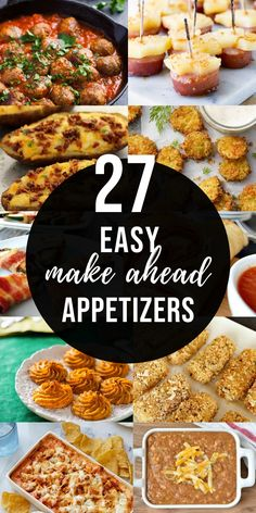These make ahead appetizers are so easy and perfect for large parties or fun snacks!! Make them ahead of time for an easier party prep, or just for convenience!! #easy #makeahead #freezerfriendly #appetizers #partyfood | happymoneysaver.com