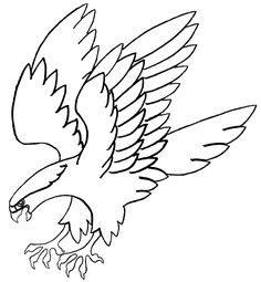 flying falcon drawing - HD1366×1478