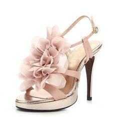 0ebb77e8091  Talia 100  Metallic Floral Lace Satin Sandals