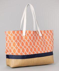 Loving this Caught Ya Lookin' Orange Hexagon Tote Bag on #zulily! #zulilyfinds