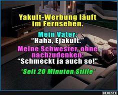 Yakult-Werbung läuft im Fernsehen..   Lustige Bilder, Sprüche, Witze, echt lustig