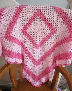 https://flic.kr/p/sMj9J5   Crochet Granny Square Pink Baby Blanket by sharron wilcock