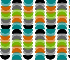 Mid-century Modern Geometric fabric by egnatz on Spoonflower - custom fabric