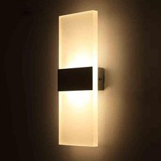 Outreo Modern Acrylic LED wall Sconces Light Lamp Decorative Light Fixture for Bedroom, Living Room, Balcony, Corridor, Warm White Luxury Lighting, Sconce Lighting, Modern Lighting, Outdoor Lighting, Lighting Ideas, Modern Wall Lights, Lighting Sale, Lighting Design, Wall Mounted Lamps