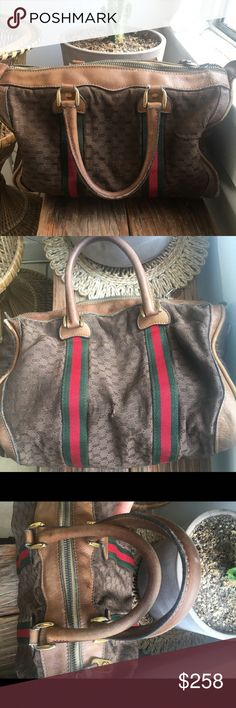 c068b924c06 Spotted while shopping on Poshmark  Vintage GUCCI Boston Satchel Supreme  Bag!