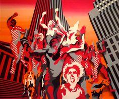 La Rue - Henri Cueco (1968) Peinture