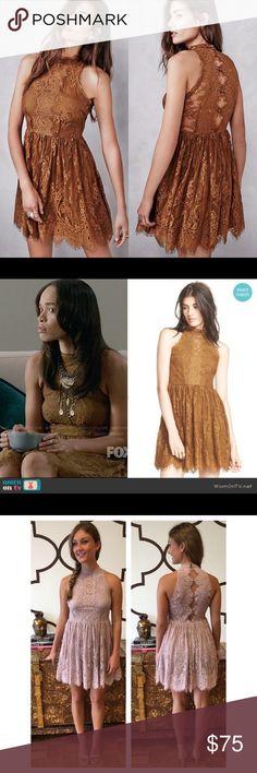 NWT Free People Brown Verushka Mini Dress NWT never worn gorgeous mini dress Retails $148 Free People Dresses