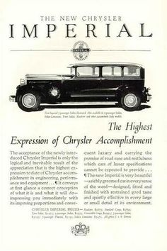 A 1920's Imperial Ad