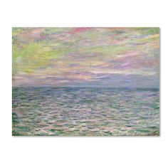 Trademark Fine Art Claude Monet 'Coucher de Soleil a Pourville' Canvas Art