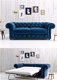 At first glance, Churchill is like any other Chesterfield but we've added deep cushioning to the frame so it feels softer, without losing any of the classic shape. We've also hidden a big double bed underneath, with a proper coil-sprung mattress that's comfy enough to sleep (or crash) on, night after night.  Our best-selling sofa bed