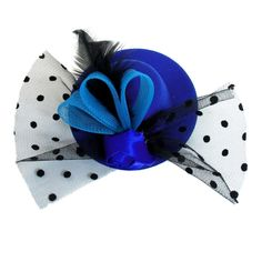 Lady Party Rose Flower Flannel Lining Meshy Mini Hat Cap Hairclip Blue Black -- This is an Amazon Affiliate link. Read more at the image link.