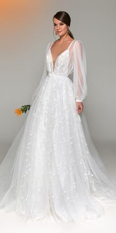 Eva Lendel Wedding Dresses You'll Be Surprised ❤️ eva lendel wedding dresses. Eva Lendel Wedding Dresses You'll Be Surprised ❤️ eva lendel wedding dresses a line plunding neckline with straps long s Dream Wedding Dresses, Bridal Dresses, Prom Dresses, Couture Wedding Gowns, Dresses Elegant, Surprise Wedding, Wedding Beauty, Wedding Bride, Lace Wedding