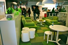 Angry Birds Office. Great idea for chill out area. Love the grass! :)
