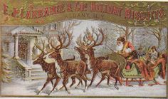 Free Public Domain Vintage Christmas | Vintage Christmas Advertising Trade Cards