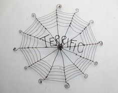 Terrific Charlottes Web Inspired Barbed Wire Spider Web Made to Order via Etsy Home Goods Decor, Cute Home Decor, Wire Spider, Spider Webs, Charlottes Web, Porche, Amazing Decor, Barbed Wire, Wire Crafts