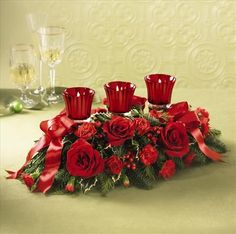 Image detail for -Christmas flower arrangements