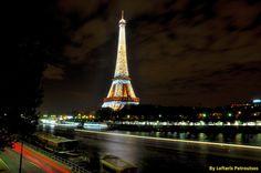 Eiffel Tower by night - Paris, Ile-de-France