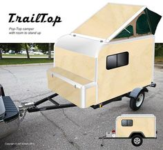 Survival camping tips Camping Trailer Diy, Cargo Trailer Camper, Utility Trailer, Truck Camping, Tent Trailers, Airstream Trailers, Teardrop Camper Trailer, Tiny Camper, Small Campers