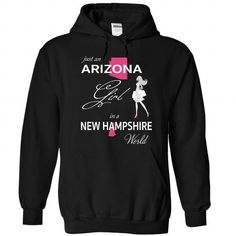 Awesome Tee ARIZONA GIRL IN NEW HAMPSHIRE WORLD Shirts & Tees
