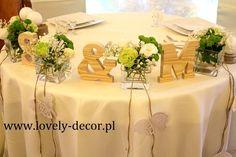 Dekoracje stołu weselnego  #wedding #decor #ślub #wesele #dekoracje
