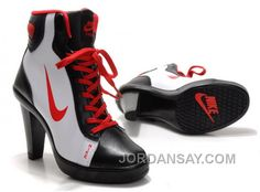 competitive price d4644 c33a4 Women s Nike Dunk High Heels High Shoes Black White Red Best, Price   85.17  - Air Jordan Shoes, 2017 New Jordan Shoes, Michael Jordan Shoes