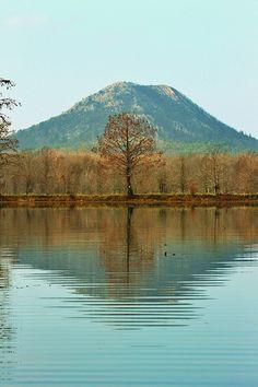 Pinnacle Mountain (Arkansas) ~ Taken from the Little Maumelle River