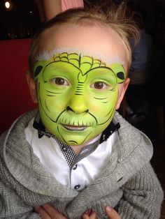 Yoda face painting by Fays Painting - http://www.facebook.com/FaysPainting